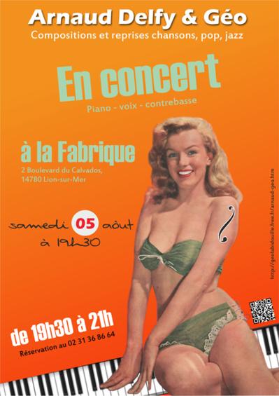 Arnaud Delfy & Géo en concert à la Fabrique