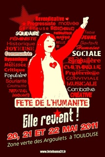La Fête de L'humanité du 20 au 22 Mai 2011 à Toulouse