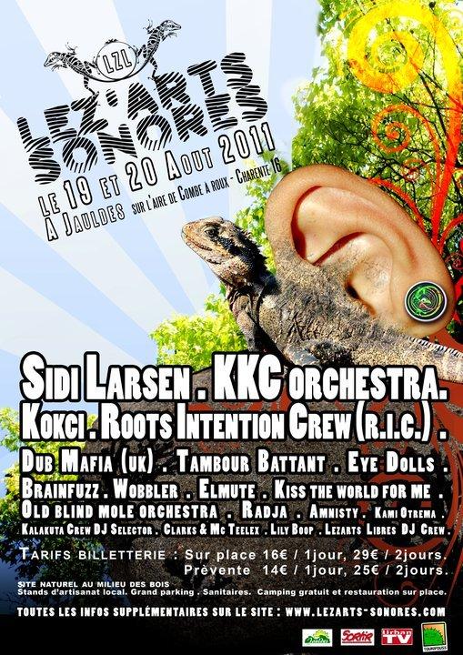 Festival Lez'Arts Sonores - 19 et 20 août 2011 - Jauldes (16560)