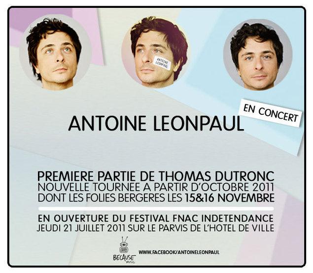 ANTOINE LEONPAUL EN CONCERT!