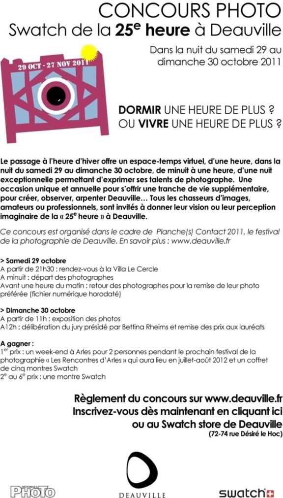 Participez au Concours photo Swatch de la 25e heure à Deauville
