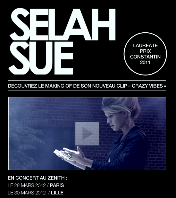 """Selah Sue - """"Crazy Vibes"""" - Le Making Of !"""