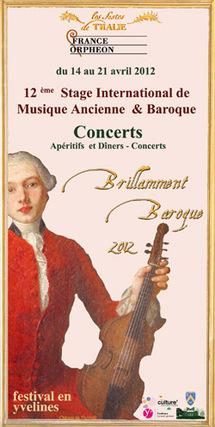 12ème stage international de musique ancienne et baroque de Thoiry