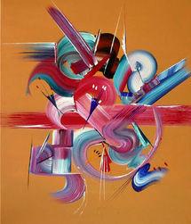 Exposition Peintures abstraites - Martine BELFODIL - à la Galerie ARTMONTI
