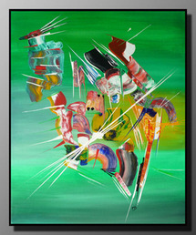 Exposition Peintures abstraites - Martine BELFODIL - Artiste Peintre - à la Galerie ARTMONTI