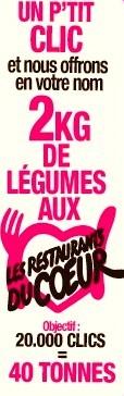 UN CLIC, 2KG DE LÉGUMES OFFERTS AUX RESTO DU COEUR