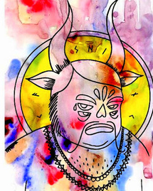 "Street art : exposition et performance KASHINK ""Paganisme"""