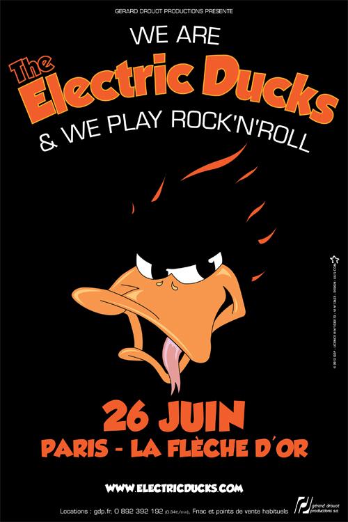 The Electric Ducks vient enflammer la Flèche d'or le 26 juin 2012