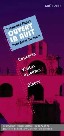Avignon : en août, le Palais des Papes  est ouvert la nuit