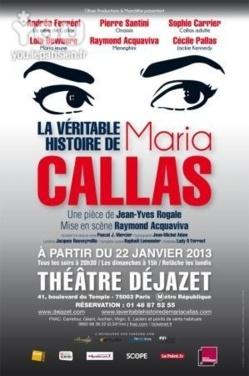 La Véritable Histoire de Maria Callas dévoilée au Théâtre Déjazet
