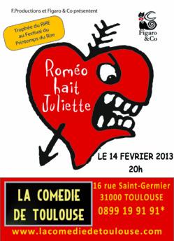 Roméo hait Juliette fêtent la St Valentin
