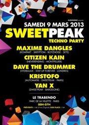 09/03/13 SWEETPEAK @Paris – Techno Party !
