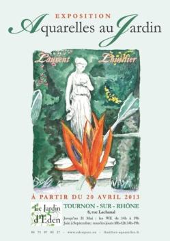 Exposition des AQUARELLES de Laurent LHUILLIER au Jardin d'Eden