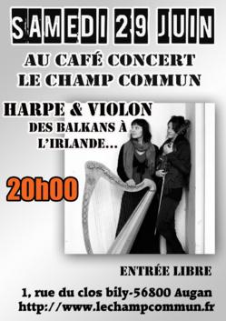 Concert Duo deliou - Harpe & Violon