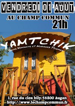 Vendredi 01 Août à 21 au Champ Commun- Swing manouche avec Yamtchik