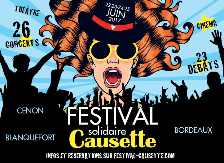 Causette en Festival du 22 au 25 juin à Bordeaux et sa région