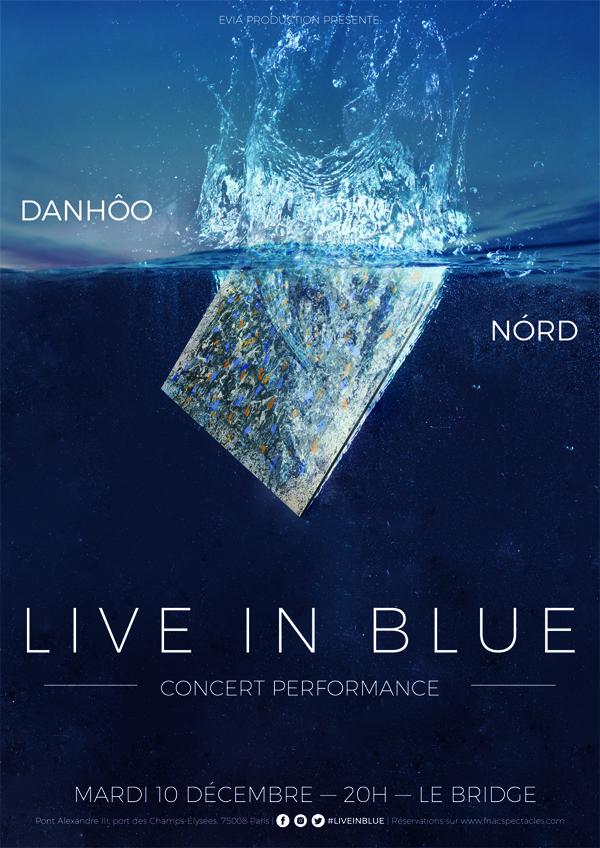 Live in Blue : concert perfomance de NÓRD et DanHôo au Bridge le 10/12