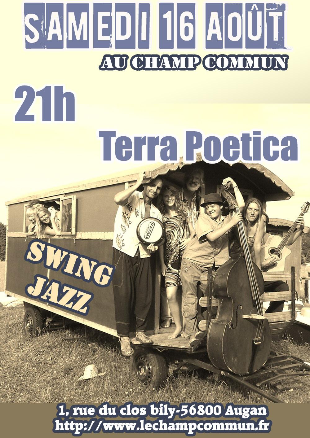 Samedi 16 août à 21h- Jazz Swing  avec terra poetica