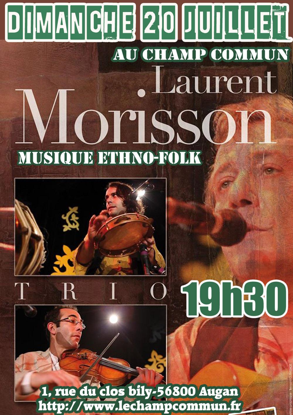 Dimanche 20 juillet à 19h30 au Champ Commun- Musiques du monde avec Laurent Morisson