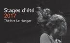 Stages d'été 2017 // Théâtre Le Hangar