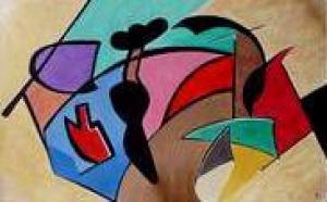 L'Artiste Peintre Martine BELFODIL expose à la MLC de Taverny