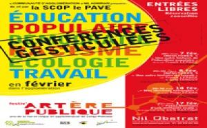 """Conférences gesticulées  de et par La SCOP """"Le Pavé"""", Coopérative d'éducation populaire"""